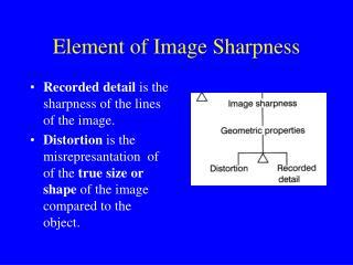 Element of Image Sharpness