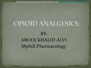 :OPIOID ANALGESICS:
