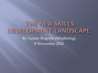 the New Skills Development Landscape