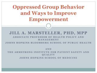 Oppressed Group Behavior and Ways to Improve Empowerment