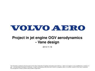 Project in jet engine OGV aerodynamics - Vane design