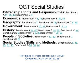 OGT Social Studies