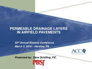 PERMEABLE DRAINAGE LAYERS IN AIRFIELD PAVEMENTS