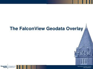 The FalconView Geodata Overlay