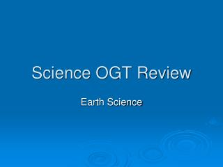 Science OGT Review