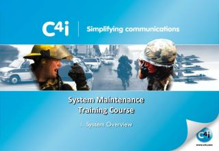 System Maintenance Training Course