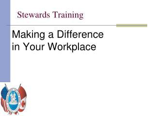 Stewards Training