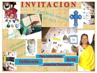 1ª. Expo Venta Artesanal del 2013