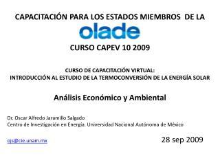 CAPACITACIÓN PARA LOS ESTADOS MIEMBROS  DE LA CURSO CAPEV 10 2009