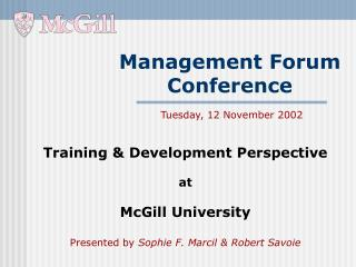 Management Forum Conference