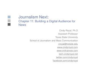 Journalism Next: Chapter 11: Building a Digital Audience for News