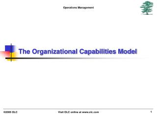 The Organizational Capabilities Model