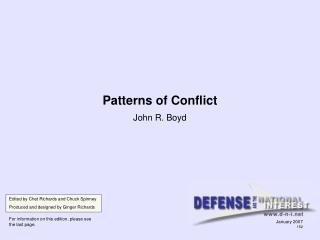 Patterns of Conflict