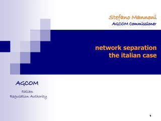network separation the italian case