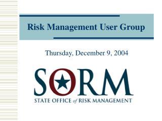 Risk Management User Group