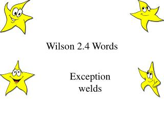 Wilson 2.4 Words