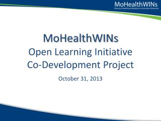 MoHealthWINs Open Learning Initiative Co-Development Project