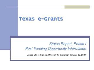 Texas e-Grants