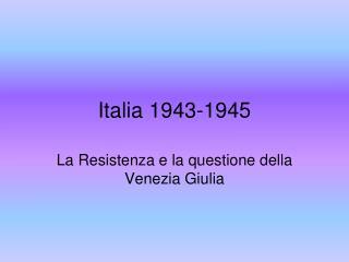 Italia 1943-1945