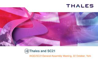 Thales and SC21
