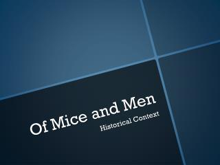 literary analysis essay on mice and men