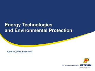 Energy Technologies  and Environmental Protection