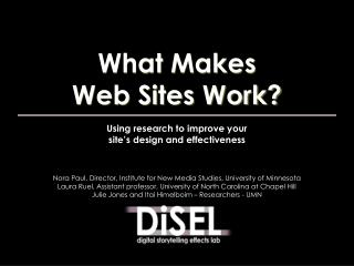 Using research to improve your site's design and effectiveness
