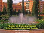 Paseos de Eugenio Herrera PE30 Parque Garc a Lorca de Granada