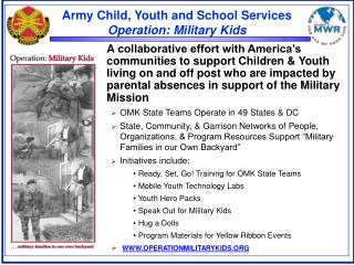 Army Child, Youth and School Services Operation: Military Kids