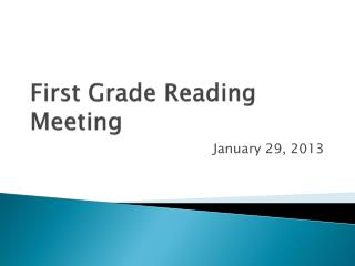 First Grade Reading Meeting