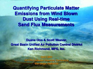 Duane Ono & Scott Weaver,  Great Basin Unified Air Pollution Control District