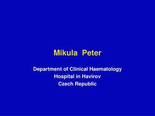 Mikula  Peter