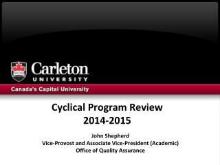 Cyclical Program Review 2014-2015