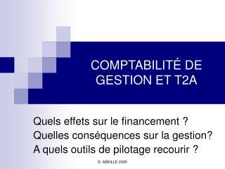 COMPTABILITÉ DE GESTION ET T2A