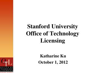 Stanford University  Office of Technology Licensing