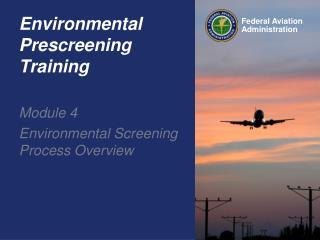 Environmental Prescreening Training