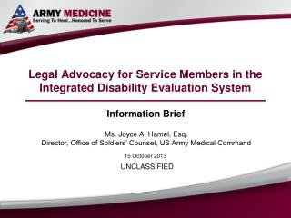 Legal Advocacy for Service Members in the Integrated Disability Evaluation System