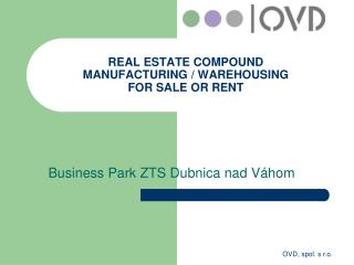 REAL ESTATE  COMPOUND MANUFACT U RING  / WAREHOUSING  FOR SALE  OR  RENT