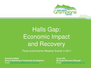 Halls Gap: Economic Impact  and Recovery