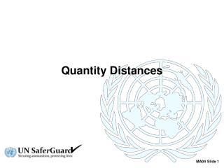 Quantity Distances