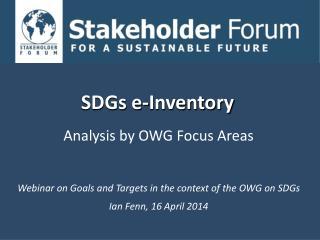 SDGs e-Inventory