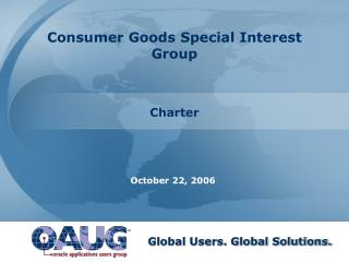 Consumer Goods Special Interest Group