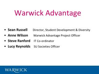 Warwick Advantage