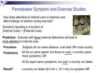 Pennebaker Symptom and Exercise Studies