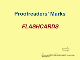 Proofreaders  Marks  FLASHCARDS