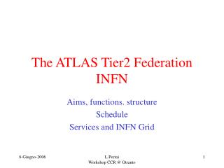 The ATLAS Tier2 Federation  INFN