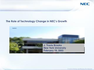 The Role of Technology Change in NEC�s Growth