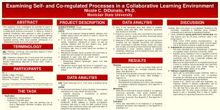 Examining Self- and Co-regulated Processes in a Collaborative Learning Environment
