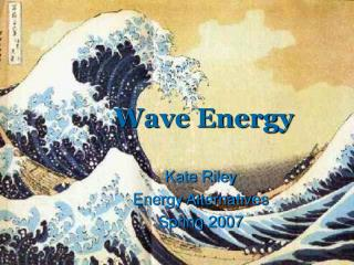 Wave Energy