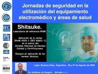 Jornadas de seguridad en la utilizaci n del equipamiento electrom dico y  reas de salud